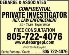 Yellow Pages Ad of Debarge & Associates