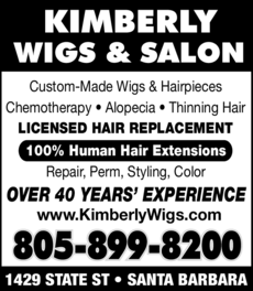 Yellow Pages Ad of Kimberly Wigs & Salon