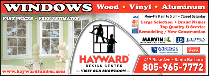 Yellow Pages Ad of Hayward Design Center