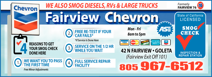 Yellow Pages Ad of Fairview Chevron