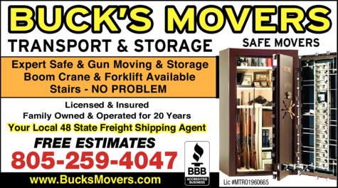 Yellow Pages Ad of Buck's Movers Llc