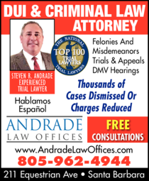 Yellow Pages Ad of Andrade Law Offices