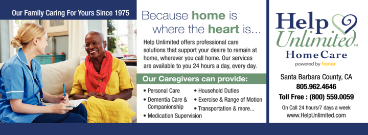 Yellow Pages Ad of Help Unlimited Home Care