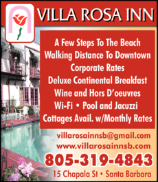 Yellow Pages Ad of Villa Rosa Inn