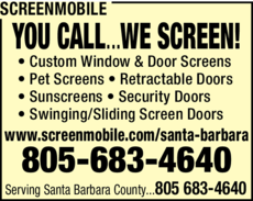 Yellow Pages Ad of Screenmobile
