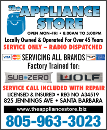 Yellow Pages Ad of Appliance Store The - Service & Repair