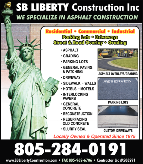 Yellow Pages Ad of S B Liberty Construction Inc