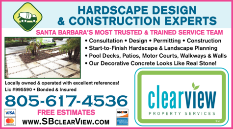Yellow Pages Ad of Clearview Concrete & Decorative Hardscaping