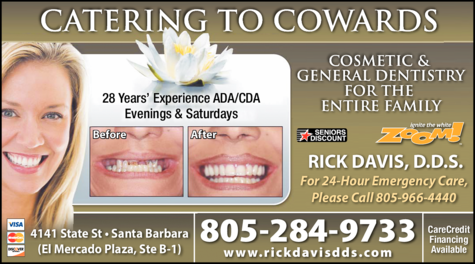 Yellow Pages Ad of Davis Rick Dds