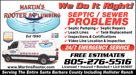 Yellow Pages Ad of Martin's Rooter & Plumbing