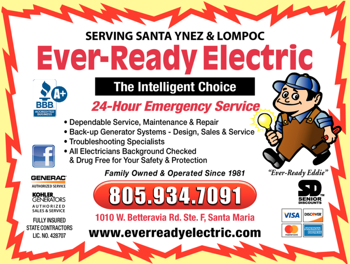 Yellow Pages Ad of Ever-Ready Electric