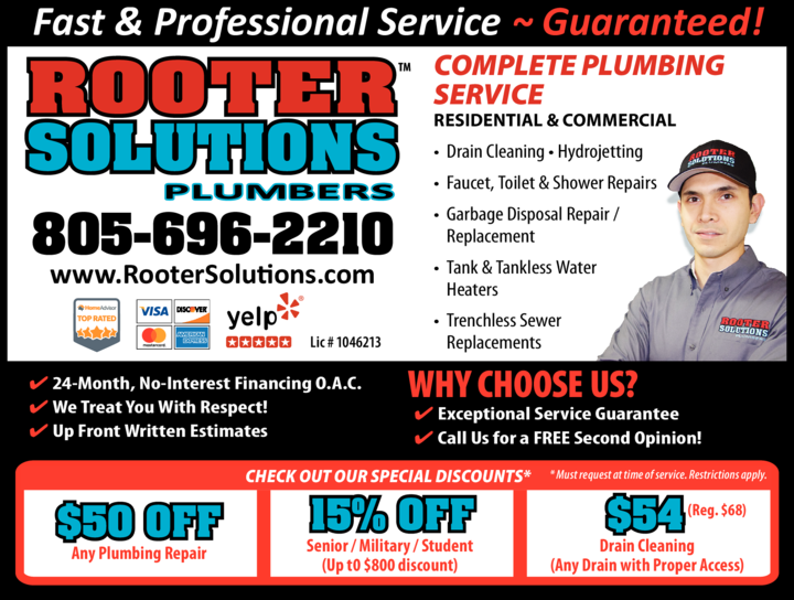 Yellow Pages Ad of Rooter Solutions