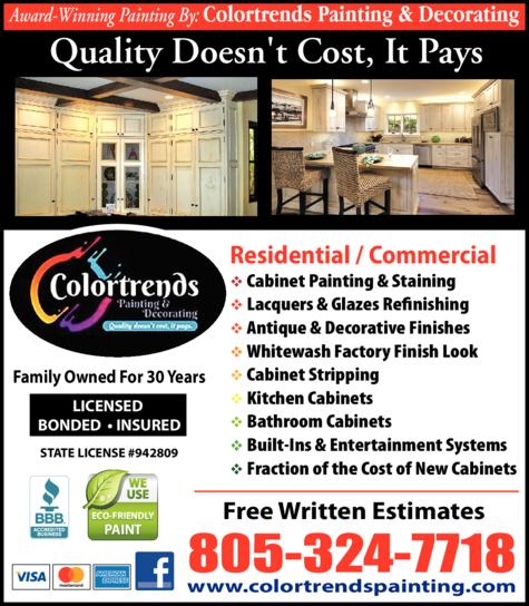 Yellow Pages Ad of Colortrends Painting & Decorating