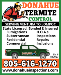 Yellow Pages Ad of Donahue Termite Control