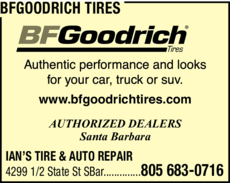 Yellow Pages Ad of Bfgoodrich Tires