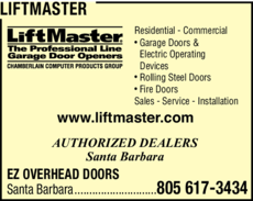 Yellow Pages Ad of Liftmaster