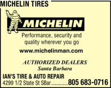 Yellow Pages Ad of Michelin Tires