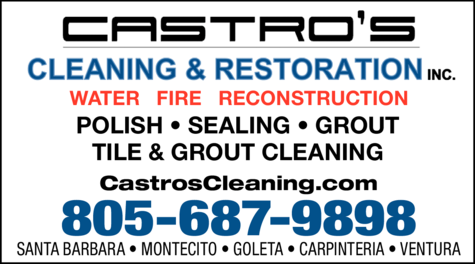 Yellow Pages Ad of Castro's Cleaning & Restoration Inc