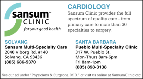 Yellow Pages Ad of Sansum Clinic - Cardiology