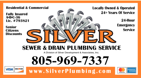 Yellow Pages Ad of Silver Sewer & Drain Plumbing Service