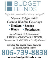 Yellow Pages Ad of Budget Blinds Of Santa Maria