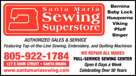Yellow Pages Ad of Santa Maria Sewing Superstore