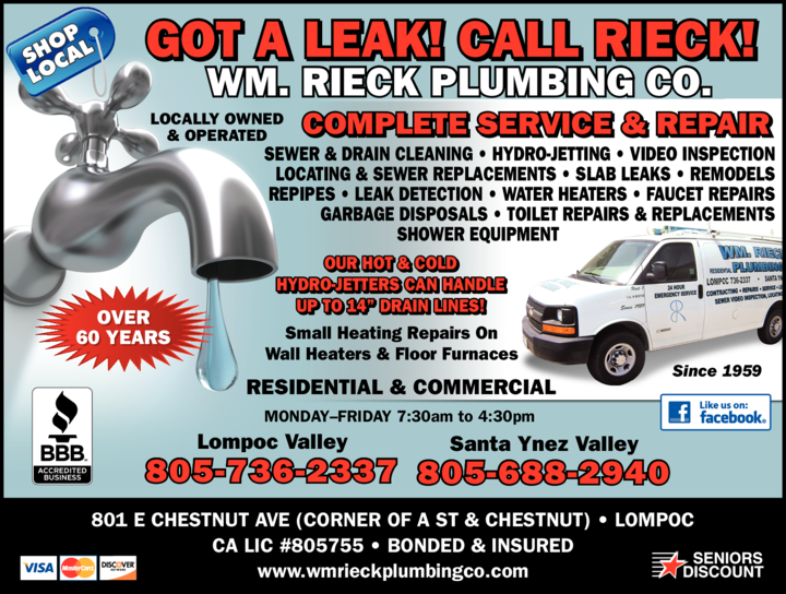 Yellow Pages Ad of Wm Rieck Plumbing Co