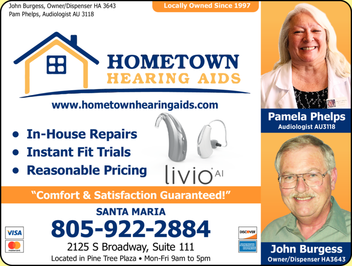 Yellow Pages Ad of Hometown Hearing Aids