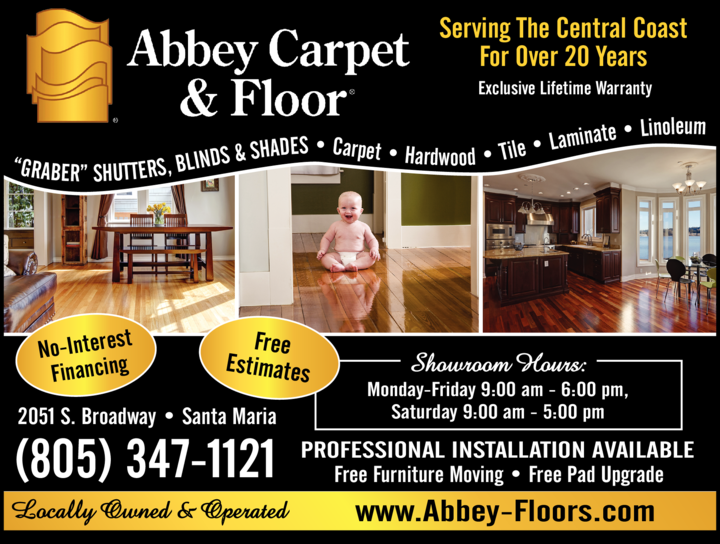 Yellow Pages Ad of Abbey Carpet & Flooring