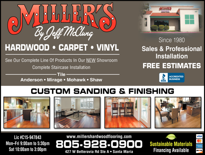 Yellow Pages Ad of Miller's Hardwood