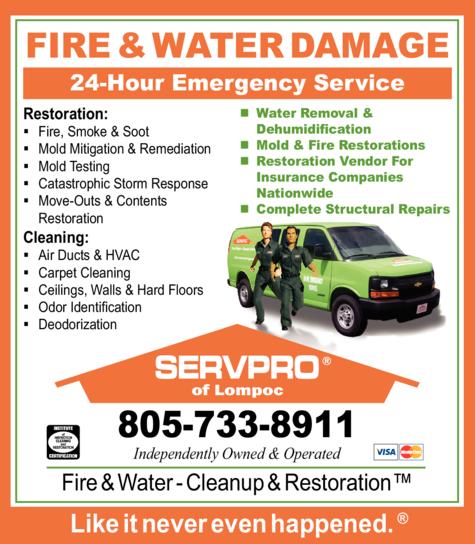 Print Ad of Servpro Of Lompoc