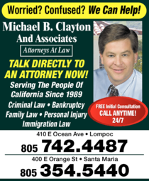Yellow Pages Ad of Barnard Thomas L - Law Offices Of Michael B Clayton