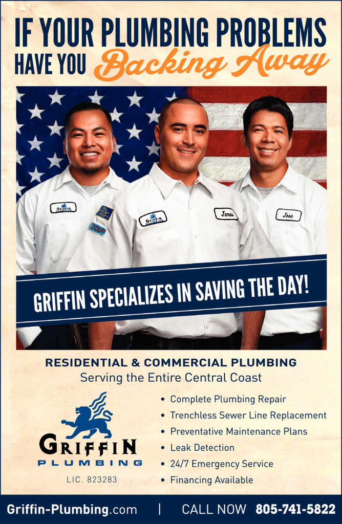 Yellow Pages Ad of Griffin Plumbing