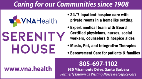 Yellow Pages Ad of Vna Health - Serenity House (Formerly Visiting Nurse & Hospice Care)