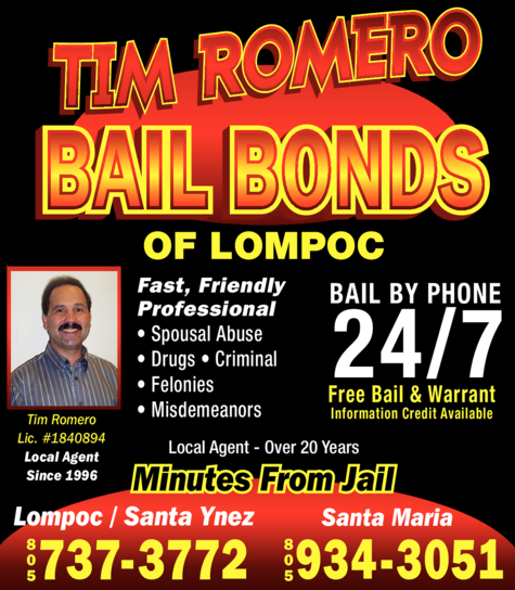 Yellow Pages Ad of Tim Romero Bail Bonds