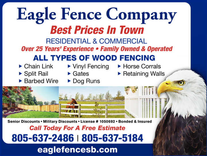 Yellow Pages Ad of Eagle Fence Company