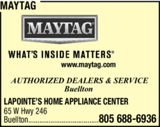 Yellow Pages Ad of Maytag