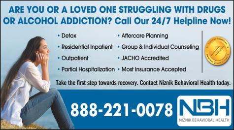 Print Ad of Niznik Behavioral Health