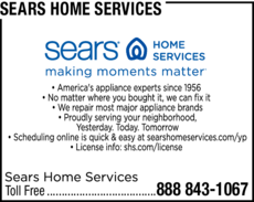 Yellow Pages Ad of Sears Home Services