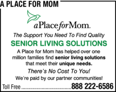 Yellow Pages Ad of A Place For Mom