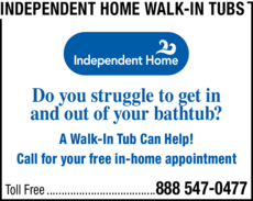 Yellow Pages Ad of Independent Home Walk-In Tubs