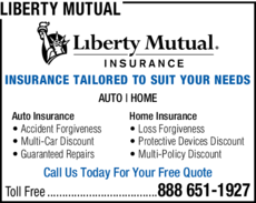 Yellow Pages Ad of Liberty Mutual
