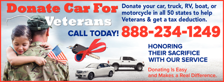 Yellow Pages Ad of Auto Donations For Veterans