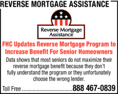 Yellow Pages Ad of Reverse Mortgage Assistance