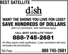 Yellow Pages Ad of Best Satellite