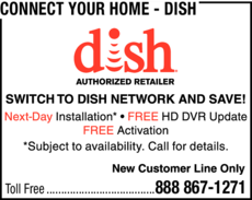 Yellow Pages Ad of Connect Your Home - Dish