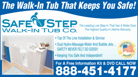 Yellow Pages Ad of Safe Step Walk-In Tub Co