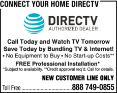 Yellow Pages Ad of Connect Your Home Directv