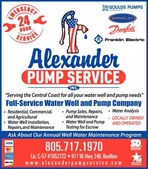 Yellow Pages Ad of Alexander Pump Service