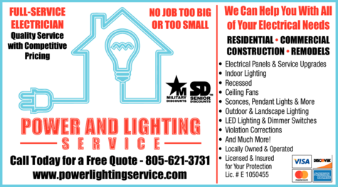 Yellow Pages Ad of Power And Lighting Service